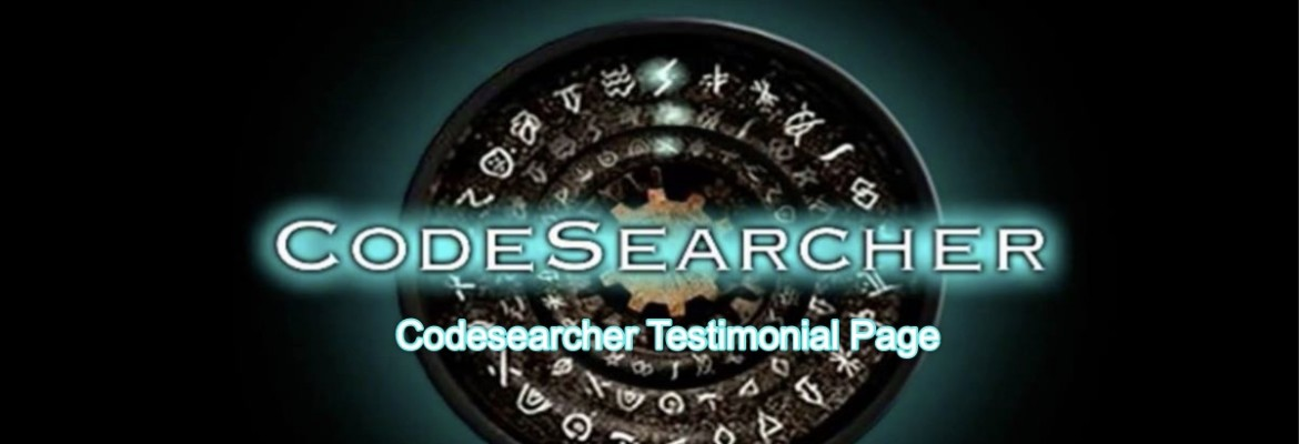 Codesearcher Testimonial Page
