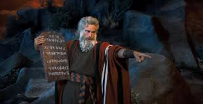 Moses and 10 Commandments with Paleo Hebrew Language